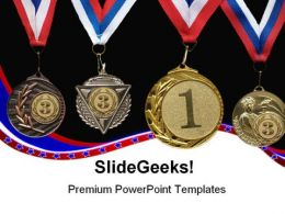Medal Sports PowerPoint Templates And PowerPoint Backgrounds 0511