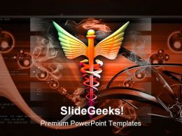 Medical Symbol Abstract PowerPoint Template 1110