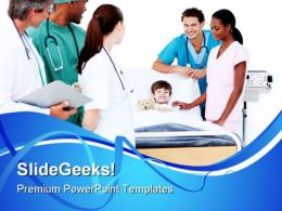 Medical Team Hospitality PowerPoint Templates And PowerPoint Backgrounds 0711