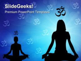 Meditation Health PowerPoint Templates And PowerPoint Backgrounds 0811
