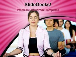 Meditation Lifestyle PowerPoint Templates And PowerPoint Backgrounds 0311