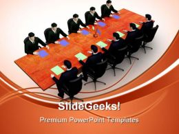 Meeting Business PowerPoint Templates And PowerPoint Backgrounds 0511