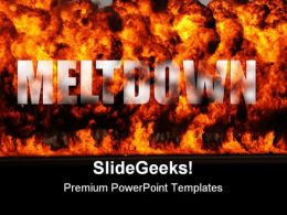 Meltdown Global PowerPoint Template 0810