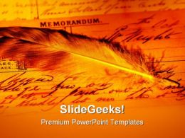 Memorandum Americana PowerPoint Templates And PowerPoint Backgrounds 0711