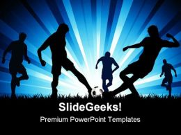 Men Playing Soccer Game PowerPoint Templates And PowerPoint Backgrounds 0511