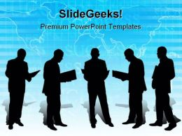 Men With Paperwork Business PowerPoint Templates And PowerPoint Backgrounds 0711