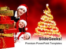 Merry Christmas01 Festival PowerPoint Background And Template 1210