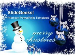 Merry Christmas01 Holidays PowerPoint Template 1010