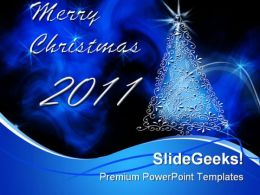 Merry Christmas 2010 Holidays PowerPoint Template 1010