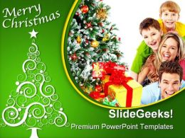 Merry Christmas Family Festival PowerPoint Template 1010