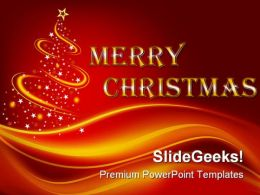 Merry Christmas Festival PowerPoint Background And Template 1210