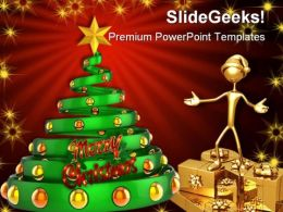 Merry Christmas Festival PowerPoint Backgrounds And Templates 0111