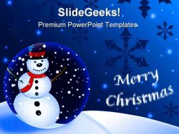 Merry Christmas Festival PowerPoint Templates And PowerPoint Backgrounds 0911