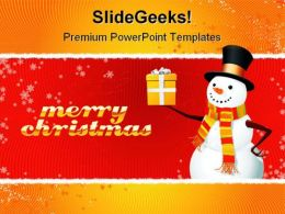 Merry Christmas Holidays PowerPoint Template 1010