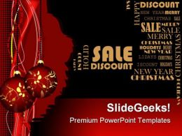 Merry Christmas With Discount Sales PowerPoint Templates And PowerPoint Backgrounds 0711