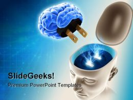Mind On Off Science PowerPoint Template 0610