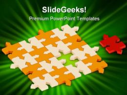 Missing Puzzle Concept Metaphor PowerPoint Templates And PowerPoint Backgrounds 0711