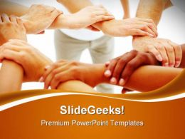 Mixed Hands Linked Handshake PowerPoint Templates And PowerPoint Backgrounds 0711