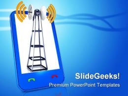 Mobile Antenna Industrial PowerPoint Templates And PowerPoint Backgrounds 0411
