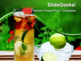 Mojito Cocktail Food PowerPoint Templates And PowerPoint Backgrounds 0411