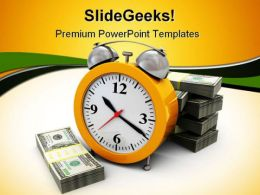 Money And Clock Future PowerPoint Templates And PowerPoint Backgrounds 0311
