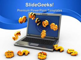 Money From Internet Finance PowerPoint Templates And PowerPoint Backgrounds 0711