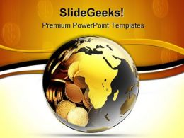 Money Globe PowerPoint Backgrounds And Templates 1210