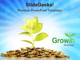 Money Growing Business PowerPoint Templates And PowerPoint Backgrounds 0711