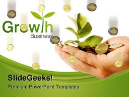Money Growth Business PowerPoint Background And Template 1210