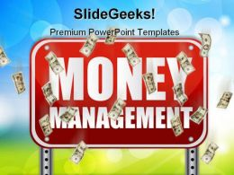 Money Management Signpost Finance PowerPoint Templates And PowerPoint Backgrounds 0311