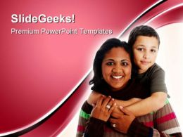 Mother And Son Family PowerPoint Templates And PowerPoint Backgrounds 0711