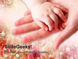 Mother Child Touch Family PowerPoint Templates And PowerPoint Backgrounds 0511