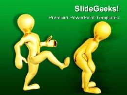 Motivational Kick Up Business PowerPoint Templates And PowerPoint Backgrounds 0511