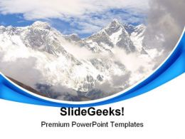 Mount Everest Nature PowerPoint Templates And PowerPoint Backgrounds 0611