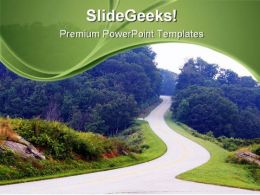 Mountain Roads Nature PowerPoint Templates And PowerPoint Backgrounds 0811  Presentation Themes and Graphics Slide01