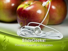Mp3 Apple Food PowerPoint Templates And PowerPoint Backgrounds 0311