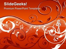 Music Abstract PowerPoint Background And Template 1210