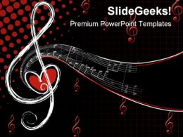 Music Notes Abstract PowerPoint Template 0610