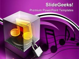 Music Security PowerPoint Templates And PowerPoint Backgrounds 0711