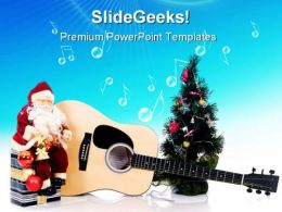 Musical Christmas Festival PowerPoint Templates And PowerPoint Backgrounds 0311