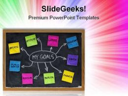 My Goals Business PowerPoint Templates And PowerPoint Backgrounds 0711