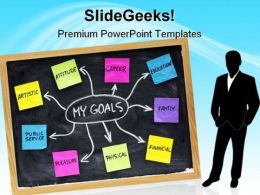 My Goals Success Business PowerPoint Template 1110