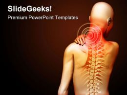 Neck Pain Medical PowerPoint Backgrounds And Templates 1210