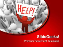 Need Help Business PowerPoint Templates And PowerPoint Backgrounds 0711