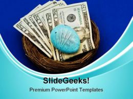 Nest Egg Money PowerPoint Templates And PowerPoint Backgrounds 0211