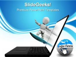 Net Surfing Internet PowerPoint Templates And PowerPoint Backgrounds 0811
