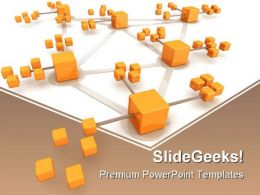Network Concept Business PowerPoint Templates And PowerPoint Backgrounds 0511