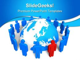 Network Concept Leadership PowerPoint Templates And PowerPoint Backgrounds 0311