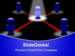 Network Icon Leadership PowerPoint Templates And PowerPoint Backgrounds 0411