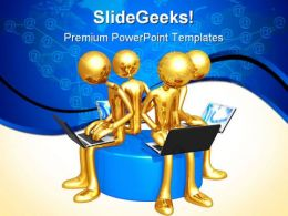 Network Workgroup Internet PowerPoint Templates And PowerPoint Backgrounds 0511
